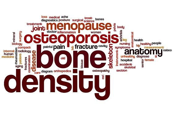 Bone density word cloud